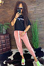 Женские спортивные штаны на резинке и щироких манжетах внизу 44bu487, фото 7