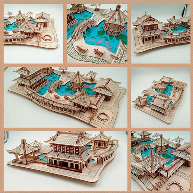 Деревянный пазл 3D - Пазл конструктор деревянный