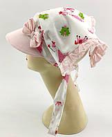 Оптом косынки детские с 46 по 54 размер косынка детская головные уборы для девочек на завязках, фото 1