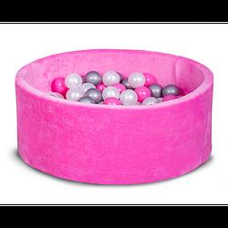 Сухой бассейн Хатка круглый, розовый 80 и 100 см