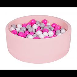 Сухой бассейн Хатка круглый, бледно-розовый 80 и 100 см