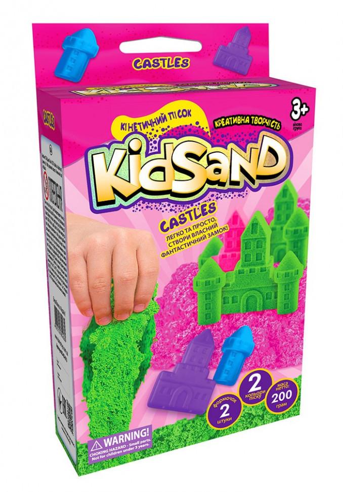 """Набір креативної творчості """"Кінетичний пісок""""KidSand"""" коробка міні 200 г укр (16) KS-05-01U"""