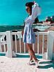 Льняное летнее платье с пышной юбкой и длинным рукавом - фонариком 71ty1264, фото 3