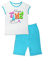 """Пижама для девочки на лето с коротким рукавом """"Sweet time"""""""