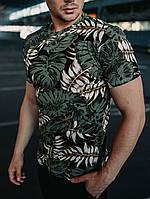 Мужская футболка трикотажная Leaves green, фото 1