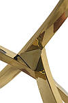 Стіл T-317 круглий, скляний, хром, що не розкладний, фото 8