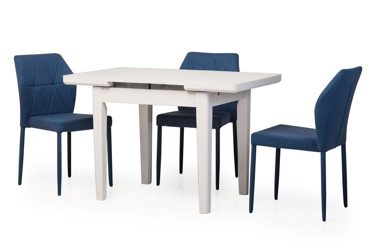 Обідній стіл TM-79 білий, МДФ розкладний