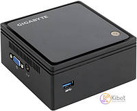 Неттоп Gigabyte Brix GB-BACE-3000, Black, Intel Celeron N3000 (2x1.04-2.08GHz), 1xDDR3L SO-DIMM (1.35V), Intel