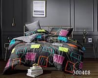 Комплект постельного белья Цветная геометрия сатин  (Двуспальный)