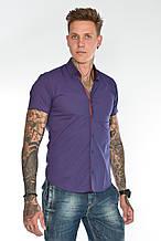 Мужская рубашка приталенная Gelix 1229005 темно-фиолетовая