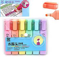 86381TF Набор текстовыделителей с прозрачным кончиком неон  набор 6 цветов