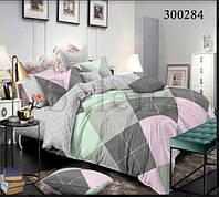 Набор постельного белья Ромбики цветные 2 сатин (Двуспальный)