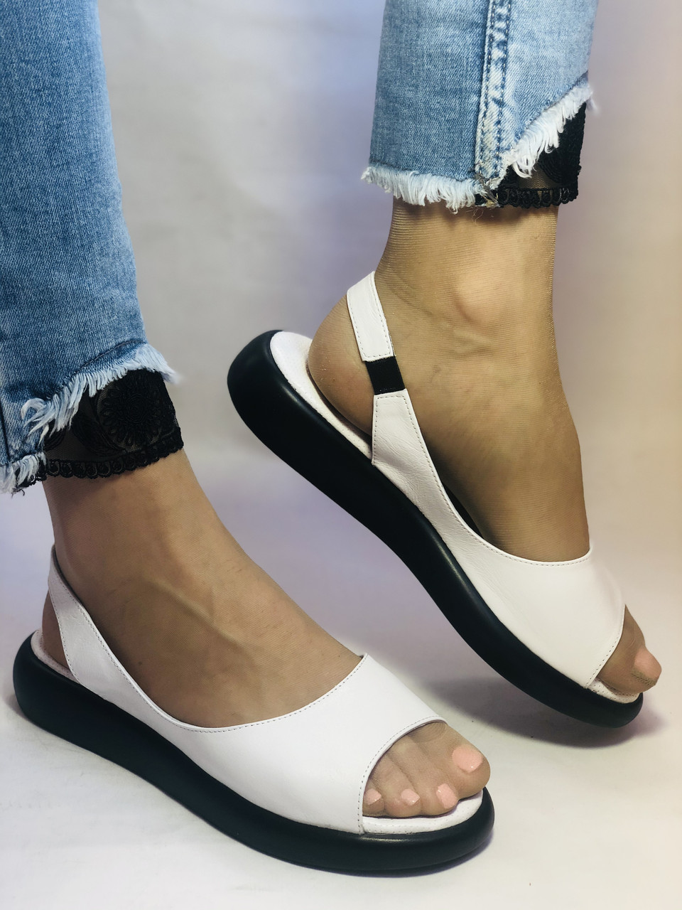 Супер комфорт! Жіночі шкіряні босоніжки .Розмір 36. 37.39.40. Туреччина Магазин Vellena