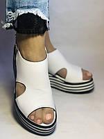 Хіт! Жіночі босоніжки на середній платформі. Натуральна шкіра.Туреччина. Розмір 37-40/ Vellena, фото 7