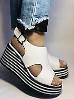 Хіт! Жіночі босоніжки на середній платформі. Натуральна шкіра.Туреччина. Розмір 37-40/ Vellena, фото 2