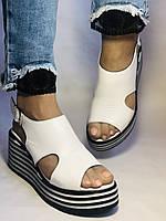 Хіт! Жіночі босоніжки на середній платформі. Натуральна шкіра.Туреччина. Розмір 37-40/ Vellena, фото 3
