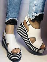 Хіт! Жіночі босоніжки на середній платформі. Натуральна шкіра.Туреччина. Розмір 37-40/ Vellena, фото 4