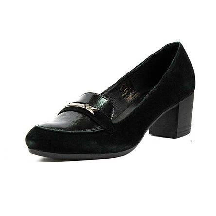 Туфли женские MIDA 21828-102 черная замша (38), фото 2