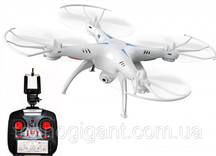 Квадрокоптер 1 million c hd камерой и WIFI, на пульте, радиоуправляемый коптер, летающий дрон с камерой Белый