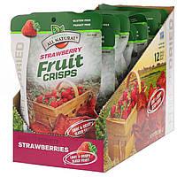 Brothers-All-Natural, Ліофілізовані - фруктові чіпси, полуниця, 12 пакетиків на 1 порцію, 90 г