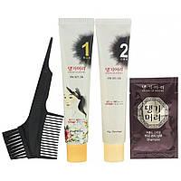 Doori Cosmetics, Daeng Gi Meo Ri, краска для волос с лекарственными травами, оттенок светло-каштановый,