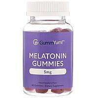 GummYum!, Жевательные таблетки с мелатонином, натуральный клубничный ароматизатор, 2,5мг, 60шт., официальный сайт