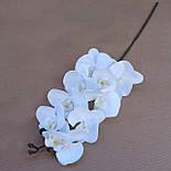 Орхидея ветка фаленопсис белая 105 см Бархат, фото 2
