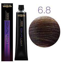 Краска без аммиака L'Oreal Professionnel Dia Light 6.8 темный блондин мокка 50 ml