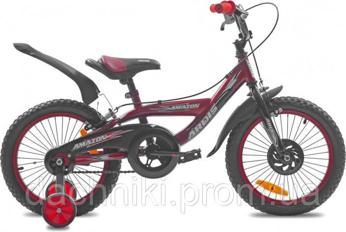 """Детский велосипед Ardis Amazon 16"""" 9"""" Красный (0439), фото 2"""