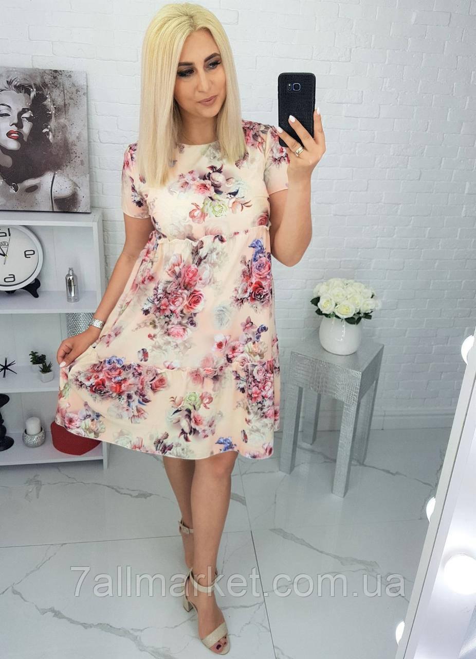 """Платье женское полубатальное летнее, размеры 48-56 """"LYUBAVA""""купить недорого от прямого поставщика"""