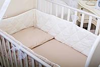 Бортики в детскую кроватку Хлопковые Традиции 180х30 см 1 шт Кремовый