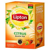 Черный чай c лимоном Lipton Citrus листовой 80 грамм