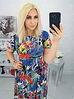 """Платье женское полубатальное яркое, размеры 50-56 """"LYUBAVA""""купить недорого от прямого поставщика, фото 1"""