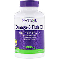 ОРИГІНАЛ!Natrol Омега-3, Омега-3 Риб'ячий жир 1000 мг,150 м'яких капсули виробництва США