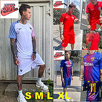 Мужской летний спортивный костюм шорты + футболка Nike (Найк). Футбольная форма.