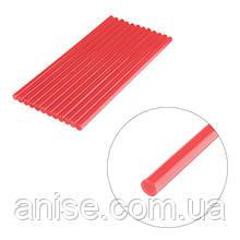Комплект красных клеевых стержней 7 мм*20 мм, 12шт / Комплект червоних клеєвих стержнів 7 мм*200 мм, 12 шт