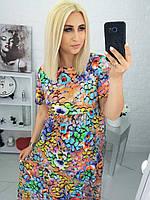 """Платье женское полубатальное летнее, размеры 50-56 """"LYUBAVA""""купить недорого от прямого поставщика, фото 1"""