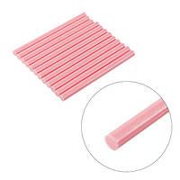 Комплект розовых клеевых стержней 7 мм*100 мм, 12шт / Комплект рожевих клеєвих стержнів 7 мм*100 мм, 12 шт