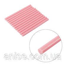 Комплект розовых клеевых стержней 7 мм*200 мм, 12шт / Комплект рожевих клеєвих стержнів 7 мм*200 мм, 12 шт