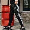 Чоловічі спортивні штани, чоловічі спортивні штани Adidas, Адідас чорні, фото 3