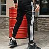 Чоловічі спортивні штани, чоловічі спортивні штани Adidas, Адідас чорні, фото 2
