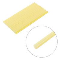 Комплект желтых клеевых стержней 7 мм*200 мм, 12шт / Комплект жовтих клеєвих стержнів 7 мм*200 мм, 12 шт