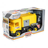 "Мусоровоз ""Middle truck"" 39492 Мусоровоз ""Middle truck"" (желтый) 39492"