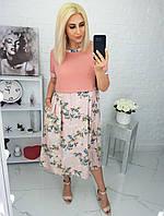 """Платье женское полубатальное  стильное, размеры 50-56(3цв) """"LYUBAVA""""купить недорого от прямого поставщика, фото 1"""