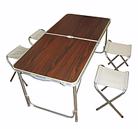Набор для пекника Folding Table + UMBRELLA, с 4 стульями, мебель для пикника, стол для пикника