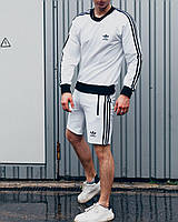 Свитшот + Шорты Adidas Badge мужской спортивный комплект летний / ЛЮКС качетва, фото 1