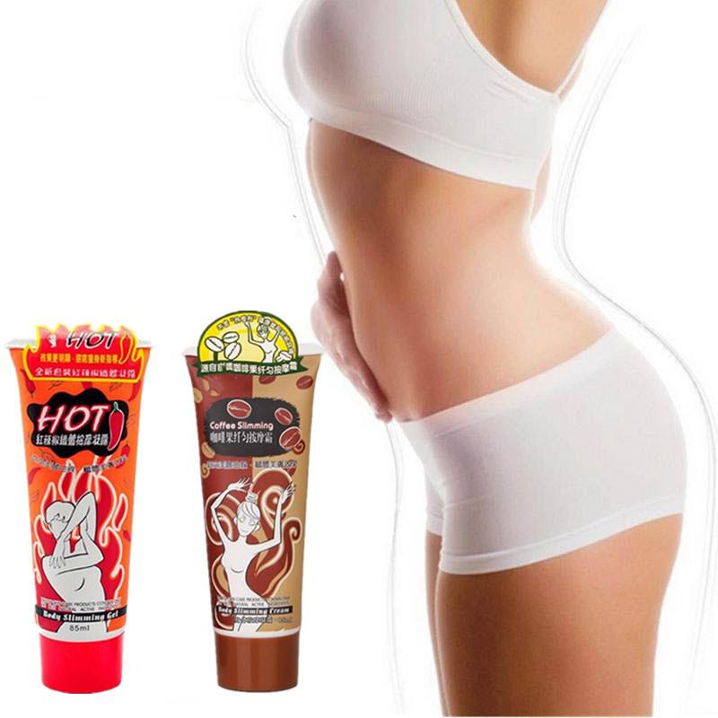 Набор Антицеллюлитных кремов для похудения: Крем на основе перца чили + Крем для похудения с экстрактом кофе