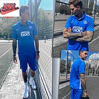 Мужской летний спортивный костюм шорты + футболка Nike (Найк). Футбольная форма. Динамо (Киев)