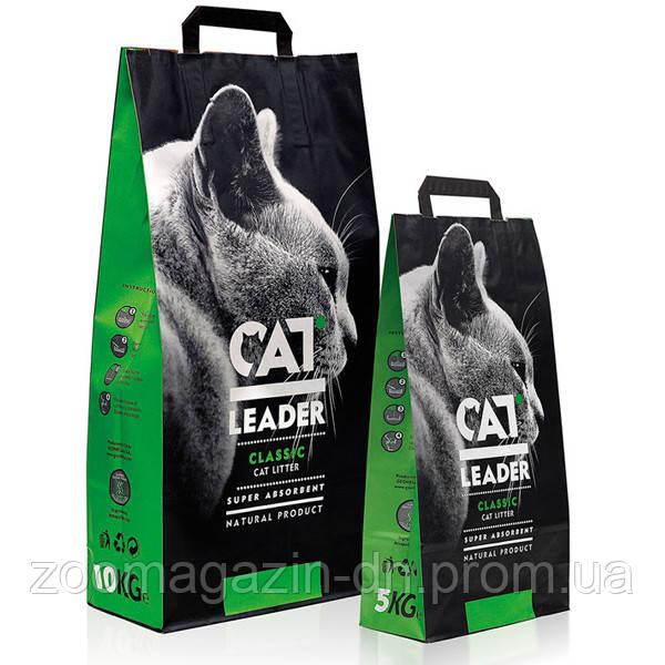Кэт Лидер (CAT LEADER) супер-впитывающий наполнитель в кошачий туалет , 10 кг.