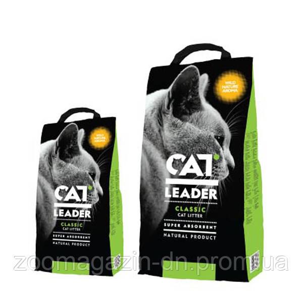 Кэт Лидер (CAT LEADER) с WILD NATURE супер-впитывающий наполнитель в кошачий туалет , 5 кг.